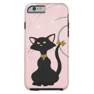 Pretty Black Female Cat W/Gold Eyes Tough iPhone 6 Case