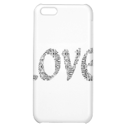 Pretty Black Lace Love Cover For iPhone 5C