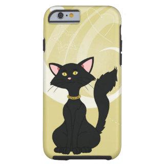 Pretty Black Male Cat W/Gold Eyes Tough iPhone 6 Case