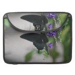 Pretty Black Swallowtail Butterfly MacBook Pro Sleeves