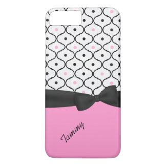 Pretty Black, White, & Pink iPhone 7 Plus Case