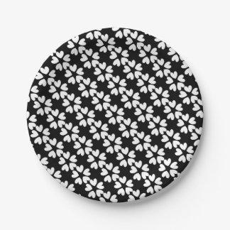 Pretty Black White Sweet Love Hearts Patterned Paper Plate  sc 1 st  Zazzle & Black White Heart Patterned And Paper Plates | Zazzle