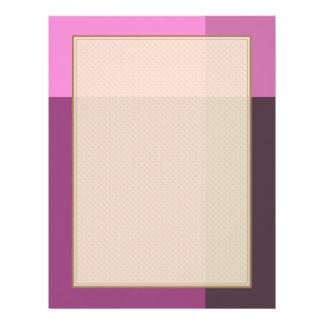 Pretty Blocks of Pink and Wine Letterhead