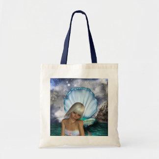 Pretty Blonde Mermaid Canvas Bags