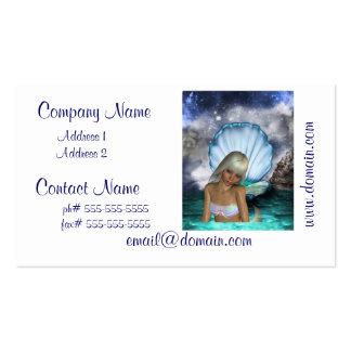 Pretty Blonde Mermaid Business Card Templates