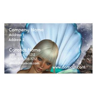 Pretty Blonde Mermaid Business Card