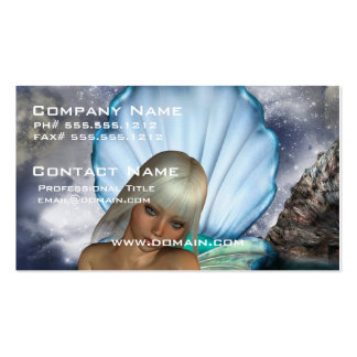 Pretty Blonde Mermaid Business Card Template