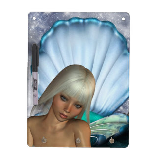 Pretty Blonde Mermaid Dry Erase Board