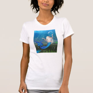 Pretty Blonde Mermaid with Bubble T-Shirt