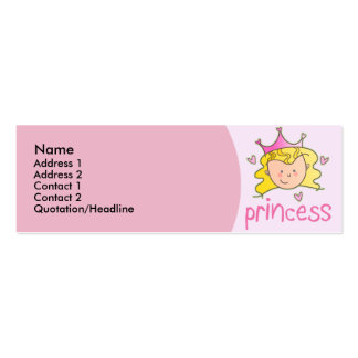 Pretty Blonde Princess Skinny Profile Cards