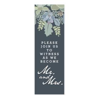 Pretty Bloom Vintage Garden Wedding Invitation Tag Mini Business Card