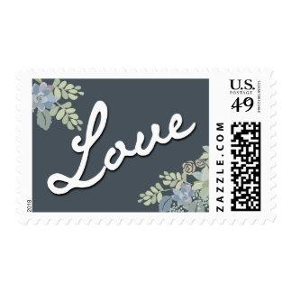 Pretty Blooms Vintage Garden Wedding LOVE Stamp