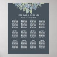 Pretty Blooms Vintage Garden Wedding Seating Chart