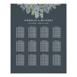 Pretty Blooms Vintage Garden Wedding Seating Chart