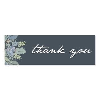 Pretty Blooms Vintage Garden Wedding Thank You Tag Mini Business Card