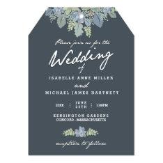 "Pretty Blooms Vintage Gardens Wedding Invitation 5"" X 7"" Invitation Card at Zazzle"