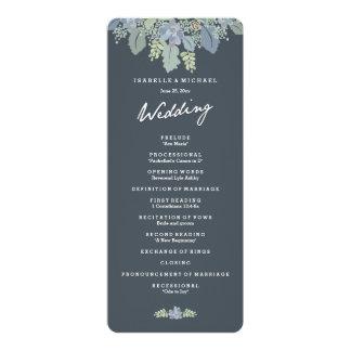 Pretty Blooms Vintage Gardens Wedding Program