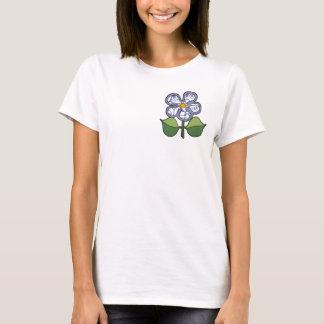 Pretty Blossom - Blue & White pattern T-Shirt