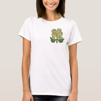Pretty Blossom - Green with gold outline T-Shirt