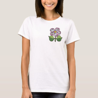 Pretty Blossom - Handpainted Pink Roses T-Shirt