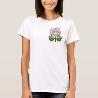 Pretty Blossom - Red Wine and Peach T-Shirt