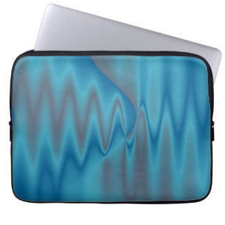 pretty blue abstract computer sleeve
