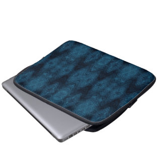 Pretty Blue and Black Abstract Computer Sleeve