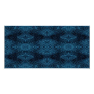 Pretty Blue and Black Abstract Photo Cards