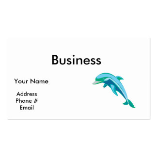 pretty blue and green dolphin business card templates