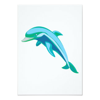 pretty blue and green dolphin card