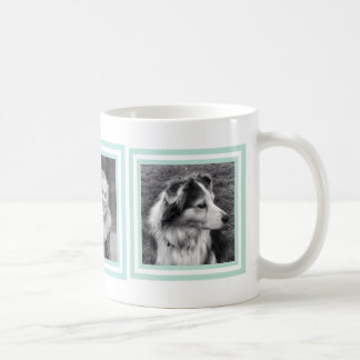 Pretty Blue and Green Instagram Photo Squares Coffee Mug
