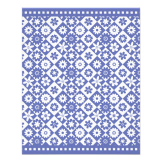 """Pretty Blue and White Country Fair Bake Sale 4.5"""" X 5.6"""" Flyer"""