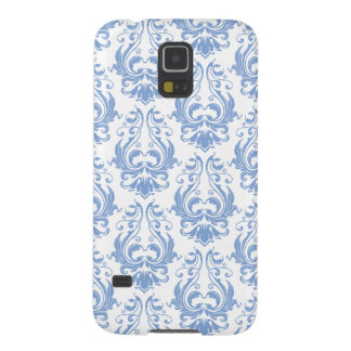 Pretty Blue and White Delicate Victorian Damask Case For Galaxy S5