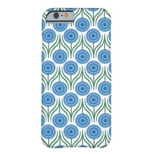 Pretty Blue And White  Floral Pattern- Barely There iPhone 6 Case