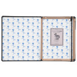 Pretty Blue and White Roses Pattern. iPad Folio Cases