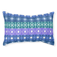 Pretty Blue Aztec Pattern Dog Bed