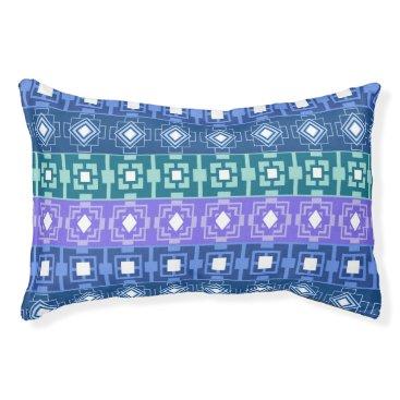 Aztec Themed Pretty Blue Aztec Pattern Dog Bed