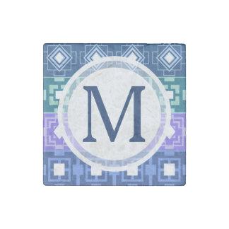 Pretty Blue Aztec Pattern Magnet