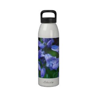Pretty Blue Bell Flowers Water Bottle
