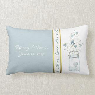 Pretty Blue Bells Wedding Keepsake Pillow