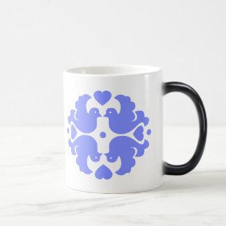 Pretty Blue Bird Motif Magic Mug