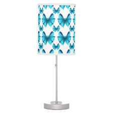 Pretty Blue Bows desk Lamps