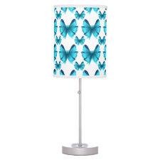 Pretty Blue Bows desk Lamps