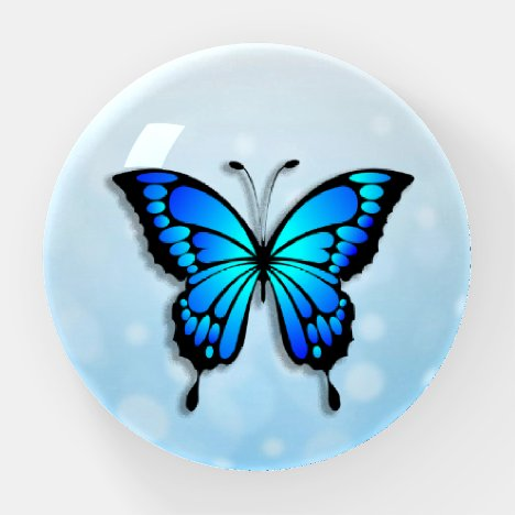 Pretty Blue Butterfly Paperweight