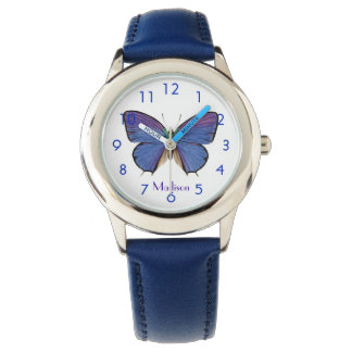 Pretty Blue Butterfly Wristwatch