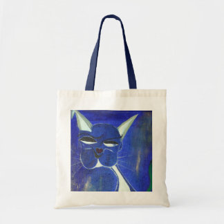 Pretty Blue Cat Tote Bag