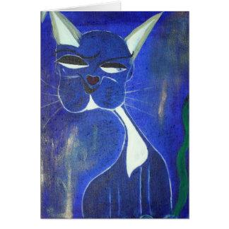 Pretty Blue Cat Cards