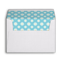 Pretty Blue Daisies Floral Pattern Envelopes