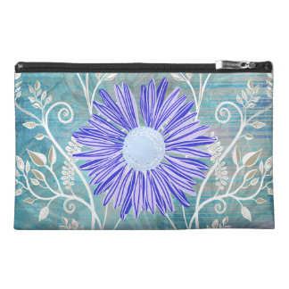 Pretty Blue Daisy Flower Pattern Gifts Travel Accessory Bag