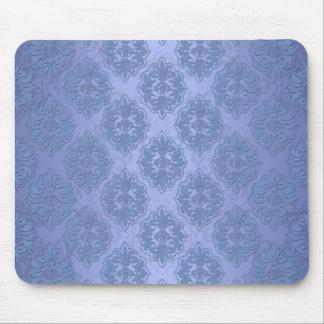 Pretty Blue Damask Mouse Pad